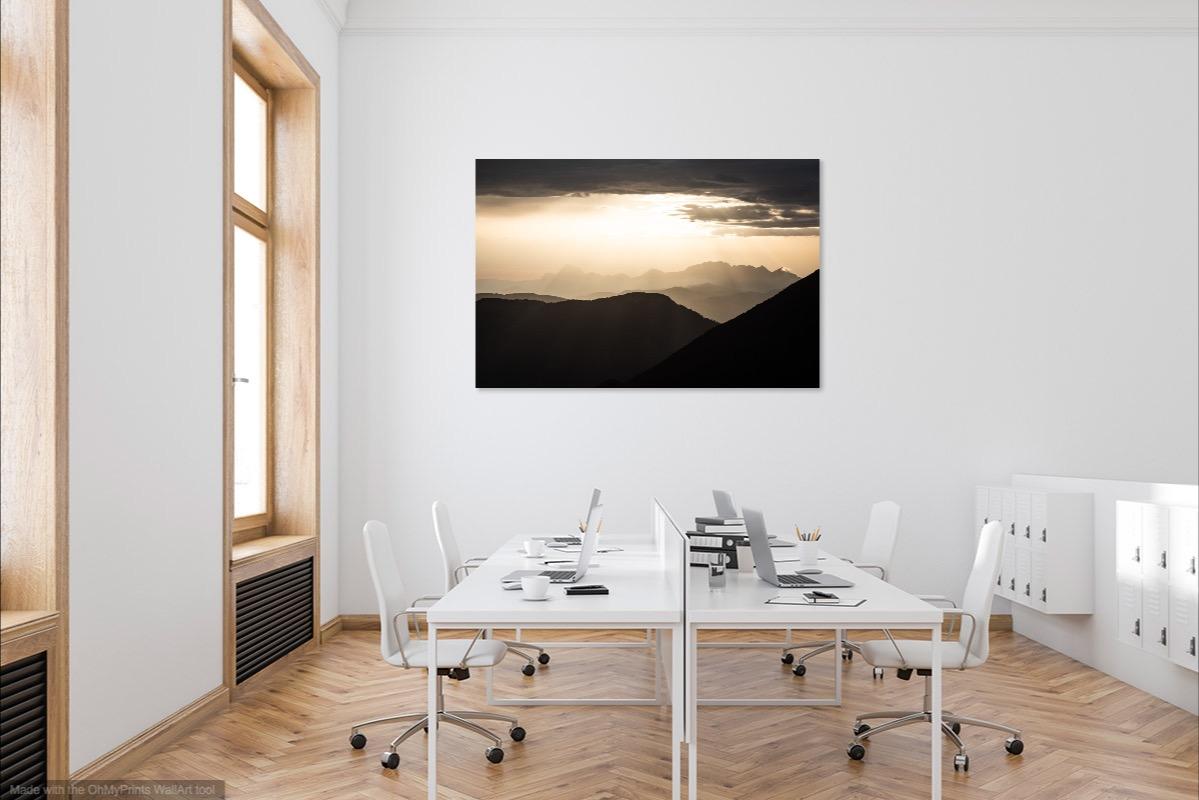 tableau photo au mur - sunset