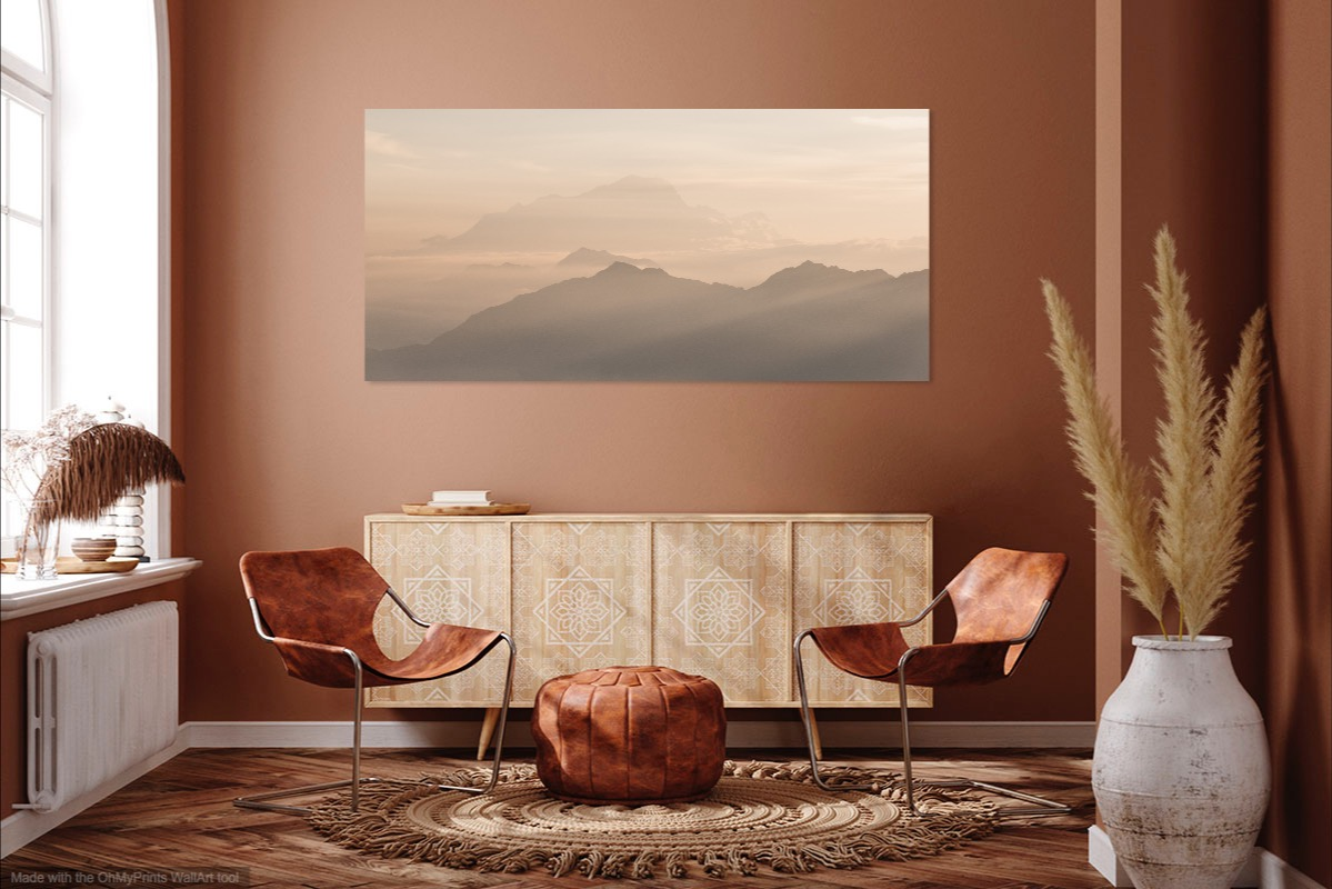 tableau photo au mur - layers